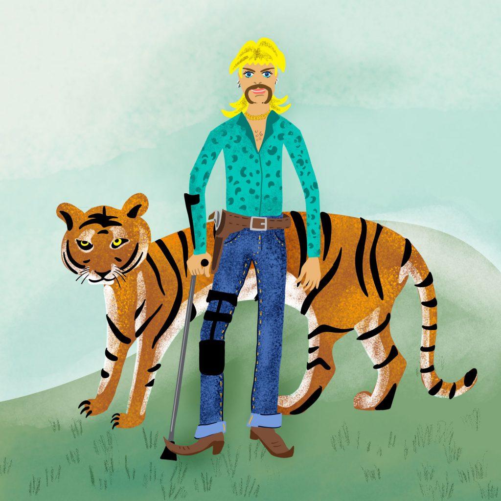 Tiger King Illustration Meme Joe Exotic